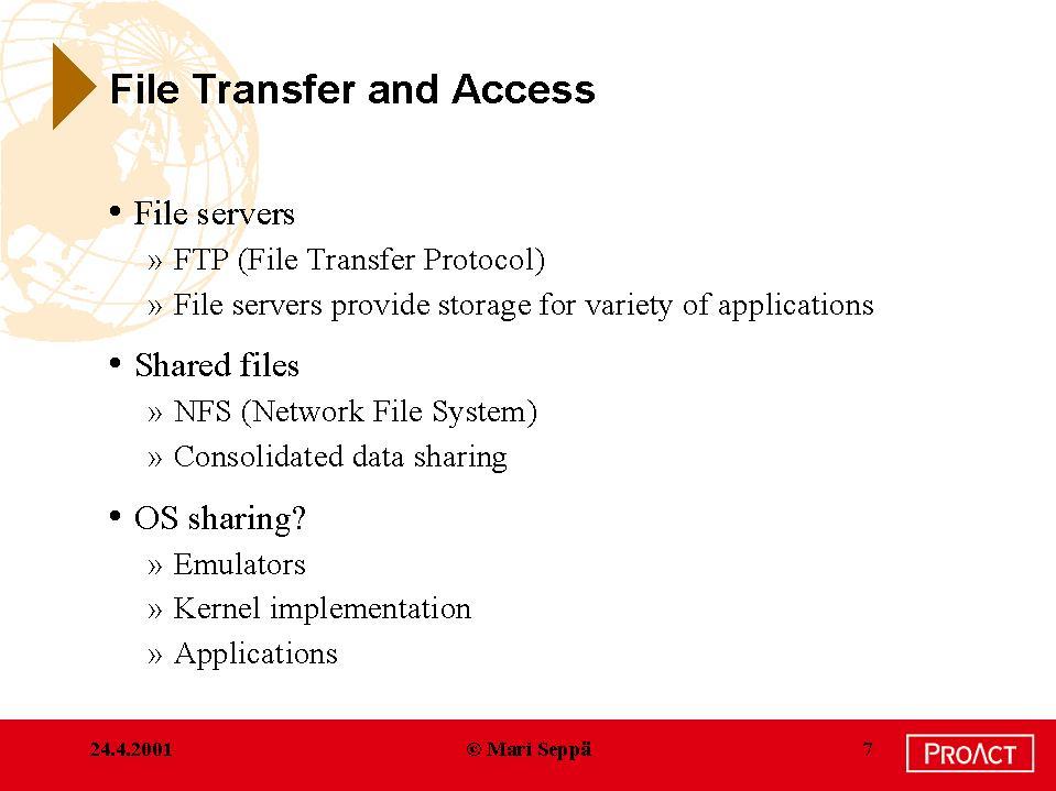 Tik-110 350 2001: Lectures - Applications